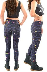 3D Printed Pacman Pattern Sexy Fit Stretchy Pants Leggings