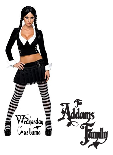 The Addams Family Ladies Costume