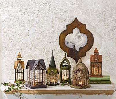 Architectural House Lantern Candle Holder